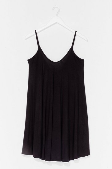 Black Swing By Relaxed Mini Dress
