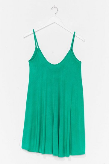 Bright green Swing By Relaxed Mini Dress