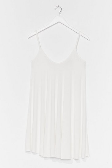 White Swing By Relaxed Mini Dress