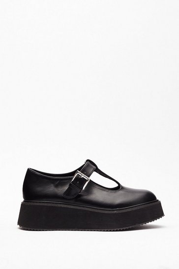 Black Get Cut-Out of Here Mary Jane Shoes