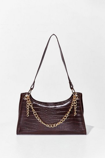 Chocolate WANT Chain-ge for the Better Shoulder Bag
