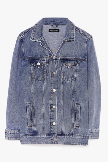Blue Wash I Like About You Oversized Denim Jacket
