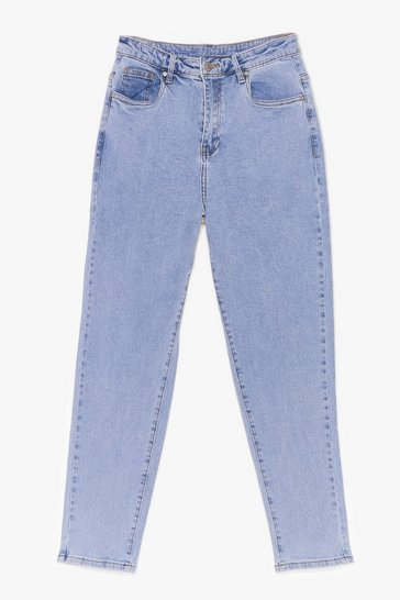 Light blue Now Watch Me High-Waisted Mom Jeans