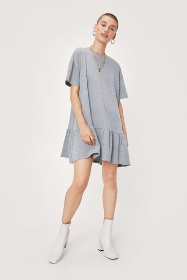 Grey Name Drop Tee Mini Dress