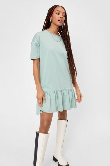 Sage Name Drop Tee Mini Dress