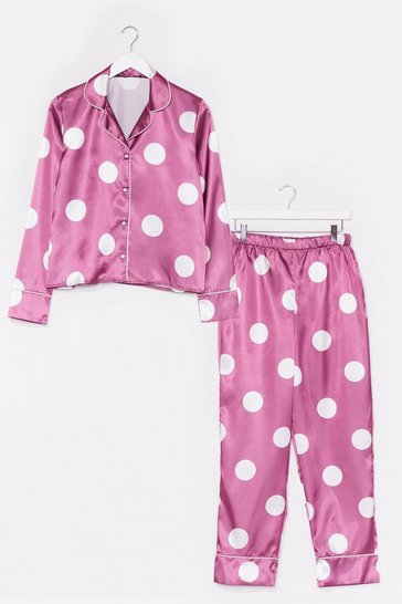 Plum My Spotlight Satin Pants Pajama Set