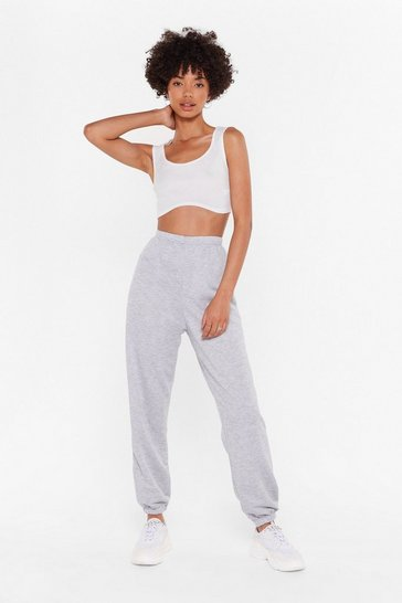 Grey Jog the Limelight Stretch Joggers