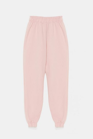 Pink Jersey Stretch Sweatpants