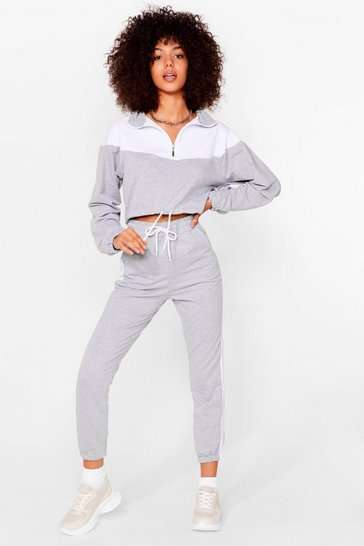 Ensemble sportif sweat & pantalon de jogging Préparation physique, Grey marl