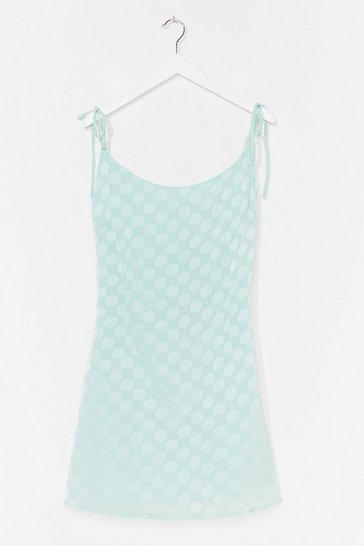 Mint Jacquard to Forget Satin Mini Dress