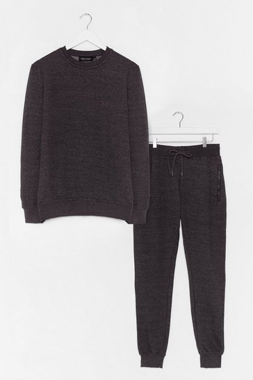 Charcoal The Real You Sweater and Joggers Lounge Set