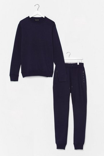 Navy The Real You Sweater and Joggers Lounge Set