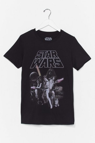 Black Star Wars Graphic Tee