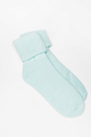 Sage Jump into Bed Soft Knit Bed Socks