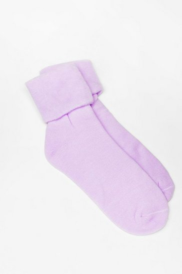 Purple Jump into Bed Soft Knit Bed Socks