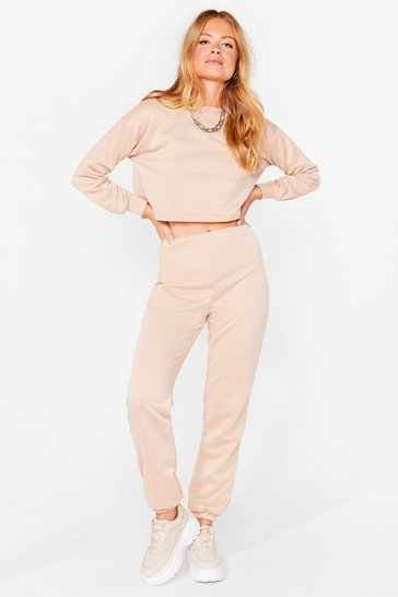 Ensemble de confort sweat & jogging Détente ultime, Sand