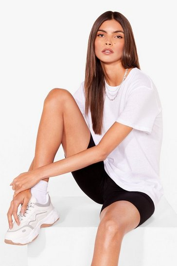 Black Relaxed to the Max Tee and Biker Shorts Set