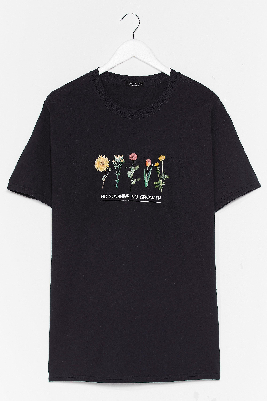 Hello Sunshine Plus Floral Graphic Tee 7