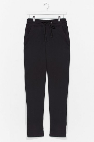 Black Run It By 'Em High-Waisted Joggers