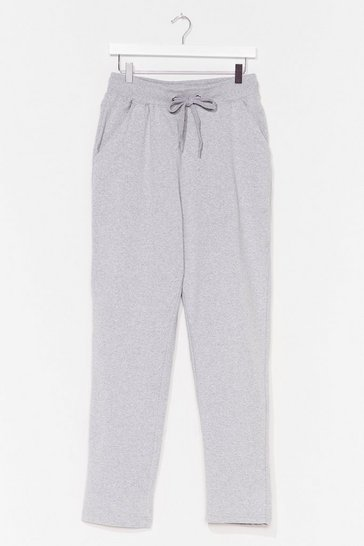Grey Run It By 'Em High-Waisted Joggers