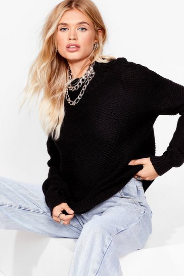 Black It's the Perfect Knit High Neck Sweater
