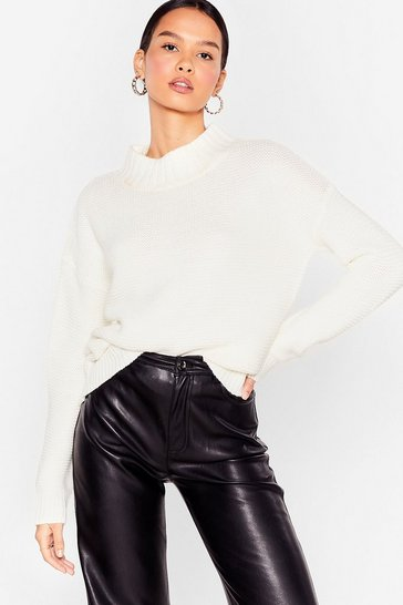 Ivory It's the Perfect Knit High Neck Sweater