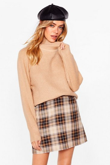 Camel Warm Welcome Oversized Knit Sweater