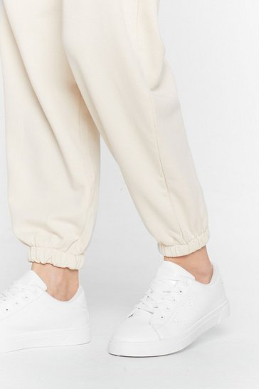 White Make a Star-t Faux Leather Sneakers