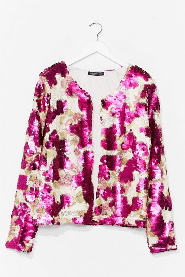 Pink In It to Sequin It Relaxed Jacket