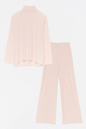 Blush One Heck Of A Night Top and Pant Set