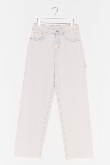 Washed blue Denim Rome Washed Cropped Jeans