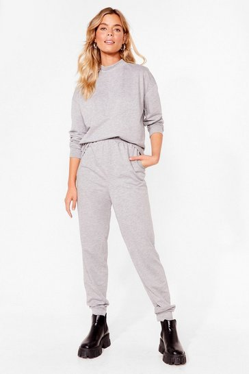 Grey Hold It Together Sweat and Jogger Set