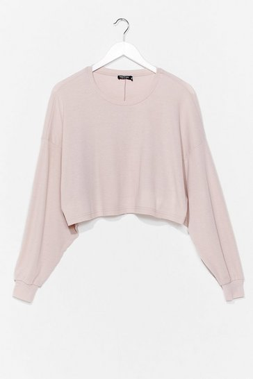 Stone Chill Vibes Ribbed Lounge Sweater