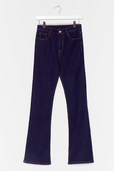 Dark blue Flare Here for You High-Waisted Jeans