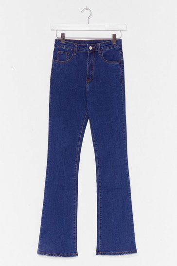 Light blue Flare Here for You High-Waisted Jeans