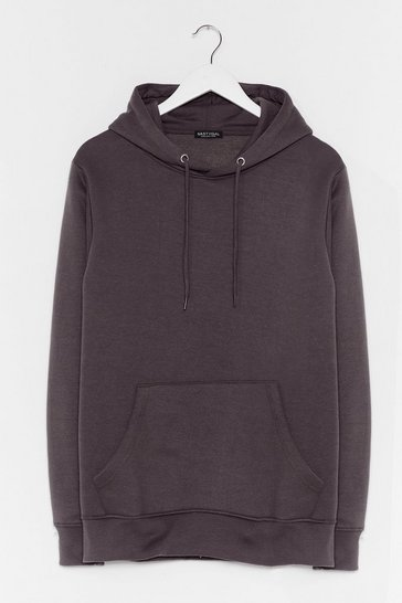 Charcoal You Better Pullover Oversized Hoodie