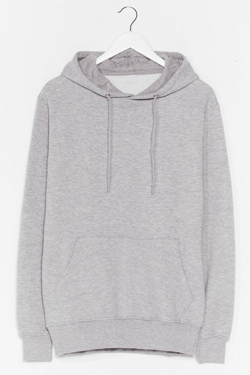 Grey You Better Pullover Oversized Hoodie