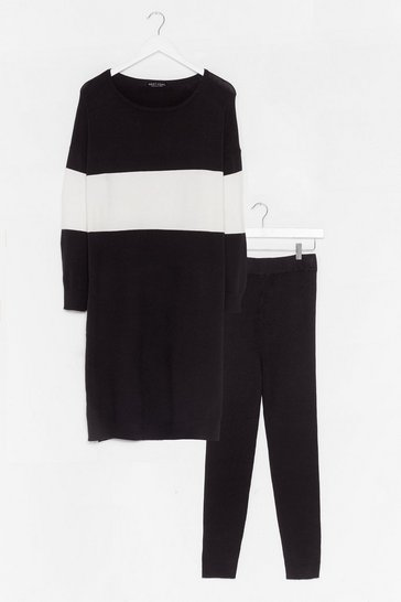 Black Knit's the Perfect Combination Legging Set