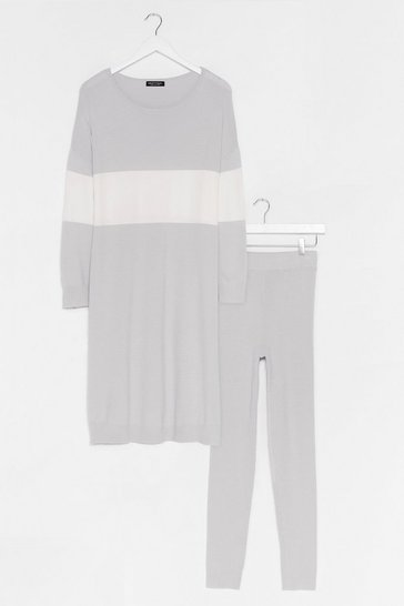 Grey Knit's the Perfect Combination Legging Set