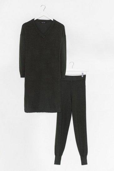 Khaki Knit's Not Happening Sweater and Legging Set
