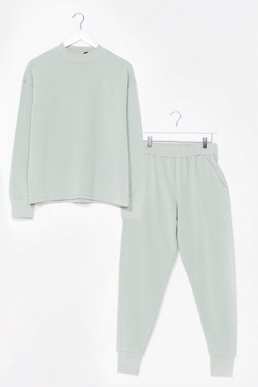 Sage Hold It Together Sweater and Jogger Set