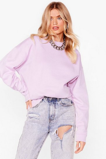 Lilac Where There's a Chill Oversized Sweatshirt