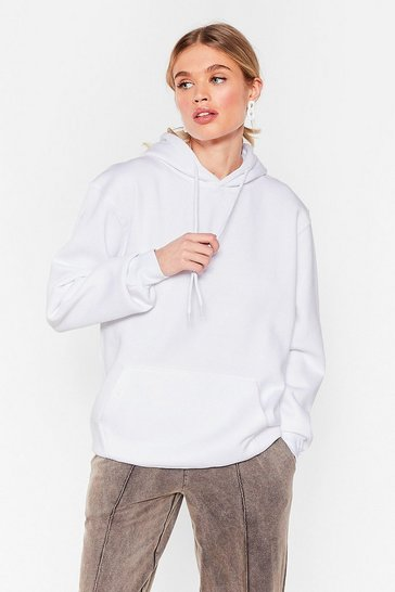 White The Wait is Over-sized Hoodie