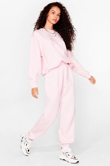 Pink Kick Back Relaxed Sweatshirt and Jogger Set