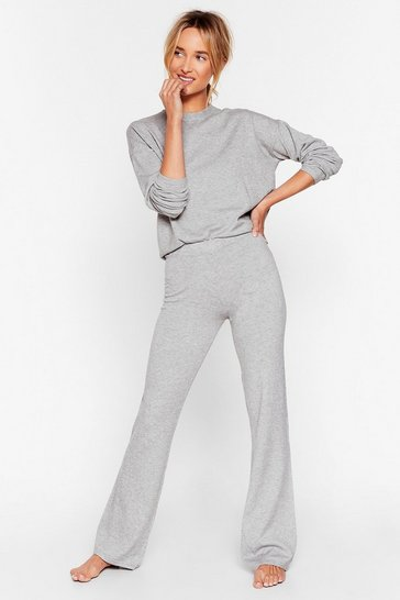 Grey Knits Time for Change Sweater and Pants Lounge Set