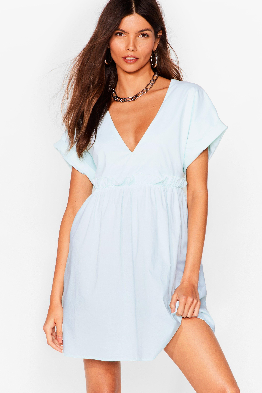 So Very Smooth Ruffle Mini Dress