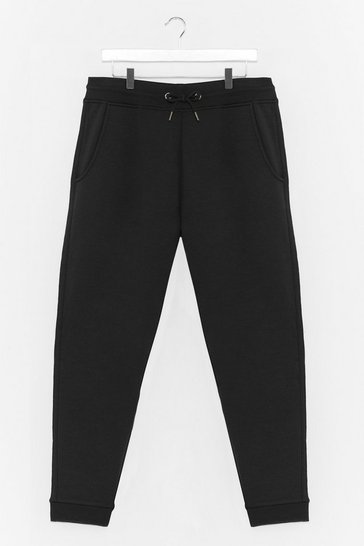 Black Run It By Us Plus High-Waisted Joggers