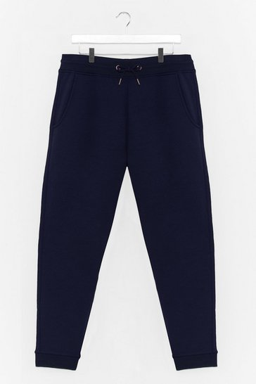 Navy Run It By Us Plus High-Waisted Joggers