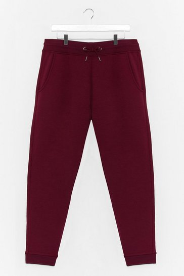 Wine Run It By Us Plus High-Waisted Joggers