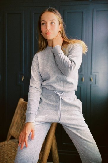 Grey marl So Simple Relaxed Sweatshirt